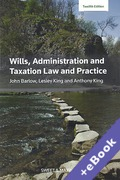 Cover of Wills, Administration and Taxation Law and Practice (Book & eBook Pack)