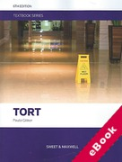 Cover of Tort Textbook (eBook)