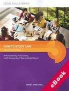 Cover of How to Study Law (eBook)