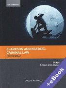 Cover of Clarkson and Keating: Criminal Law: Text and Materials (Book & eBook Pack)