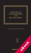 Cover of Scrutton on Charterparties and Bills of Lading 23rd ed: 1st Supplement (eBook)