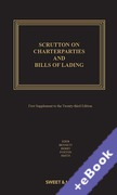 Cover of Scrutton on Charterparties and Bills of Lading 23rd ed: 1st Supplement (Book & eBook Pack)