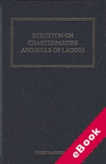 Cover of Scrutton on Charterparties and Bills of Lading 23rd ed with 1st Supplement (eBook)