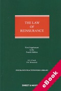 Cover of The Law of Reinsurance in England and Bermuda 4th ed: 1st Supplement (eBook)