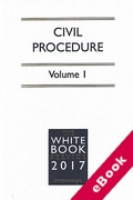 Cover of The White Book Service 2017: Civil Procedure Volume 1 only (eBook)