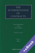 Cover of The Interpretation of Contracts 6th ed: 1st Supplement (Book & eBook Pack)