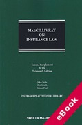 Cover of MacGillivray on Insurance Law: Relating to all Risks Other than Marine 13th ed: 2nd Supplement (eBook)
