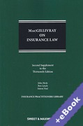 Cover of MacGillivray on Insurance Law: Relating to all Risks Other than Marine 13th ed: 2nd Supplement (Book & eBook Pack)