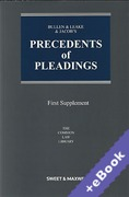 Cover of Bullen & Leake & Jacob's Precedents of Pleadings 18th ed: 1st Supplement (Book & eBook Pack)