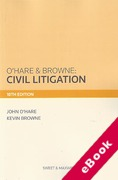 Cover of O'Hare & Browne: Civil Litigation (eBook)