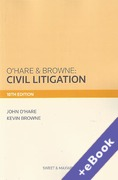 Cover of O'Hare & Browne: Civil Litigation (Book & eBook Pack)