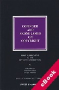 Cover of Copinger and Skone James on Copyright 17th ed: 1st Supplement (eBook)