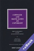 Cover of Copinger and Skone James on Copyright 17th ed: 1st Supplement (Book & eBook Pack)