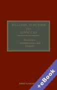 Cover of Williams, Mortimer and Sunnucks: Executors, Administrators and Probate (Book & eBook Pack)
