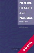 Cover of Mental Health Act Manual (eBook)