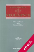 Cover of Charlesworth & Percy on Negligence 13th ed: 3rd Supplement (eBook)