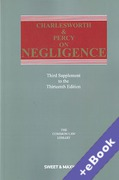 Cover of Charlesworth & Percy on Negligence 13th ed: 3rd Supplement (Book & eBook Pack)