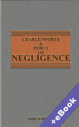 Cover of Charlesworth & Percy on Negligence 13th ed with 3rd Supplement (Book & eBook Pack)