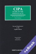 Cover of CIPA Guide to the Patents Acts 8th ed: 2nd Supplement (Book & eBook Pack)