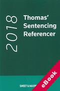 Cover of Thomas' Sentencing Referencer 2018 (eBook)