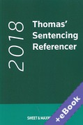 Cover of Thomas' Sentencing Referencer 2018 (Book & eBook Pack)