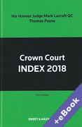 Cover of Crown Court Index 2018 (Book & eBook Pack)