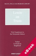 Cover of Lewin on Trusts 19th ed: 3rd Supplement (eBook)
