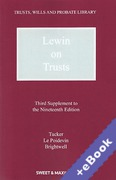 Cover of Lewin on Trusts 19th ed: 3rd Supplement (Book & eBook Pack)