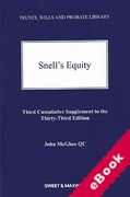 Cover of Snell's Equity 33rd ed: 3rd Supplement (eBook)