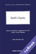 Cover of Snell's Equity 33rd ed: 3rd Supplement (Book & eBook Pack)