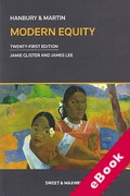 Cover of Hanbury & Martin: Modern Equity (eBook)