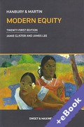 Cover of Hanbury & Martin: Modern Equity (Book & eBook Pack)