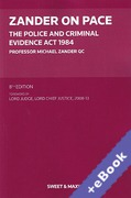 Cover of Zander on PACE: The Police and Criminal Evidence Act 1984 (Book & eBook Pack)