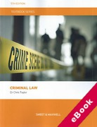 Cover of Textbook Series: Criminal Law (eBook)