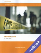 Cover of Textbook Series: Criminal Law (Book & eBook Pack)