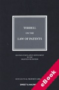 Cover of Terrell on the Law of Patents 18th ed: 2nd Supplement (eBook)