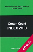 Cover of Crown Court Index 2018 (eBook)