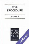 Cover of The White Book Service 2018: Civil Procedure Volumes 1 & 2 (Book & eBook Pack)