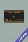 Cover of Charlesworth & Percy on Negligence (Book & eBook Pack)