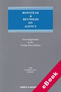 Cover of Bowstead & Reynolds On Agency 21st ed: 1st Supplement (eBook)