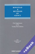 Cover of Bowstead & Reynolds On Agency 21st ed: 1st Supplement (Book & eBook Pack)