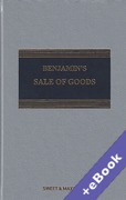 Cover of Benjamin's Sale of Goods 10th ed with 1st Supplement (Book & eBook Pack)