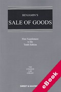 Cover of Benjamin's Sale of Goods 10th ed: 1st Supplement (eBook)