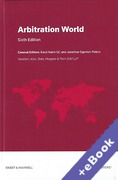 Cover of Arbitration World: Jurisdictional and Institutional Comparisons (Book & eBook Pack)