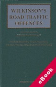 Cover of Wilkinson's Road Traffic Offences: 28th ed with 1st Supplement (eBook)