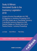 Cover of Sealy & Milman: Annotated Guide to the Insolvency Legislation 2018: Volume 2 (Book & eBook Pack)