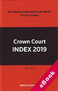 Cover of Crown Court Index 2019 (eBook)
