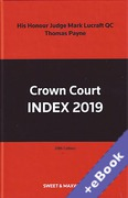 Cover of Crown Court Index 2019 (Book & eBook Pack)