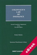 Cover of Colinvaux's Law of Insurance 11th ed: 2nd Supplement (eBook)