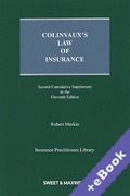 Cover of Colinvaux's Law of Insurance 11th ed: 2nd Supplement (Book & eBook Pack)